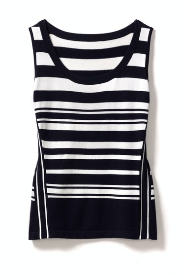 Rena Lange top, $495, Neiman Marcus.