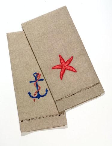 Henry Handwork towels, $30 each, frenchquarterlinens.com.