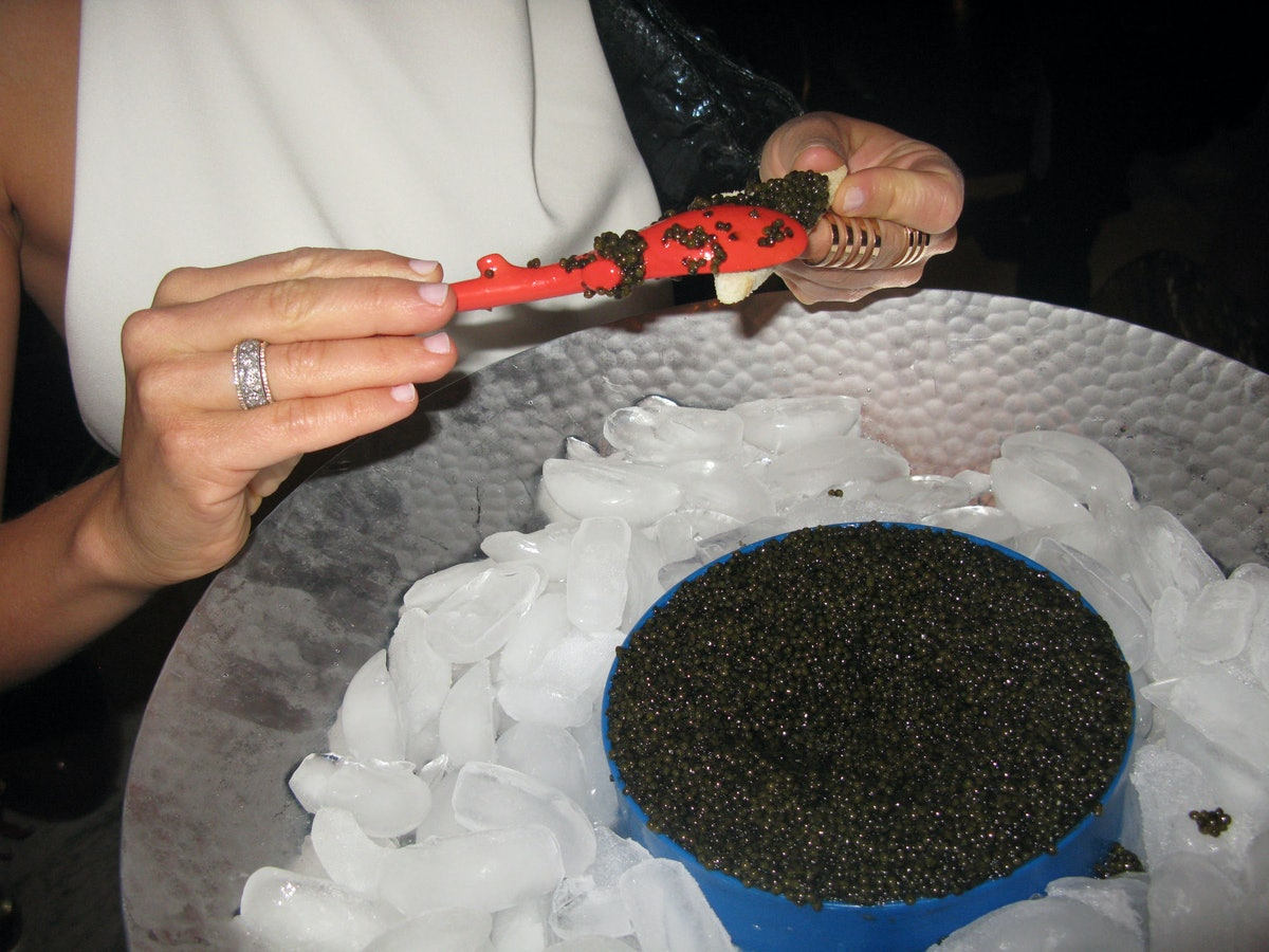 """The gentleman who brought this caviar to the party told me """"I have a guy, he calls me, he says 'You want six tins of Beluga?' I say, 'Of course I do.' I don't ask questions. I don't wanna know, because the more you know, the more you know, you know?"""" I said, """"Yes."""""""