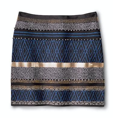 Marciano skirt, $158, marciano.com.