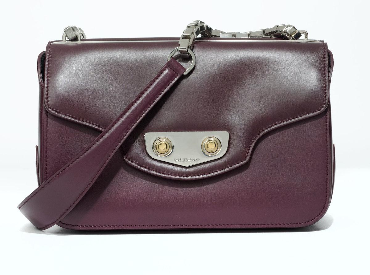 Balenciaga bag, $2,550, similar styles at Bergdorf Goodman, New York.