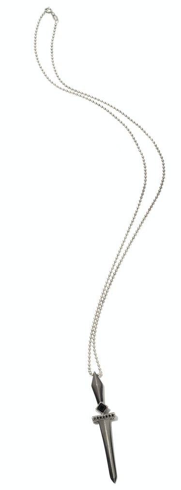 Faith Ann Kiely sterling silver and onyx necklace,