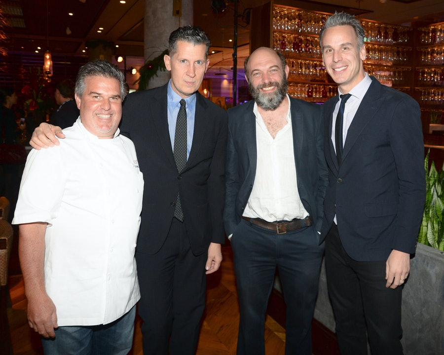 Chef Richard Sandoval, Stefano Tonchi, Carlos Amorales, and Adam Rapoport. Photo by BFAnyc.com.