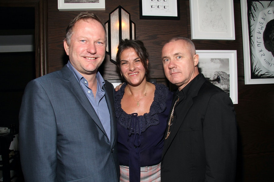 Nick Jones, Tracey Emin, and Damien Hirst. Photo by Getty Images.