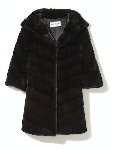 Blackglama coat, $22,500, the Fur Salon at Saks Fifth Avenue.