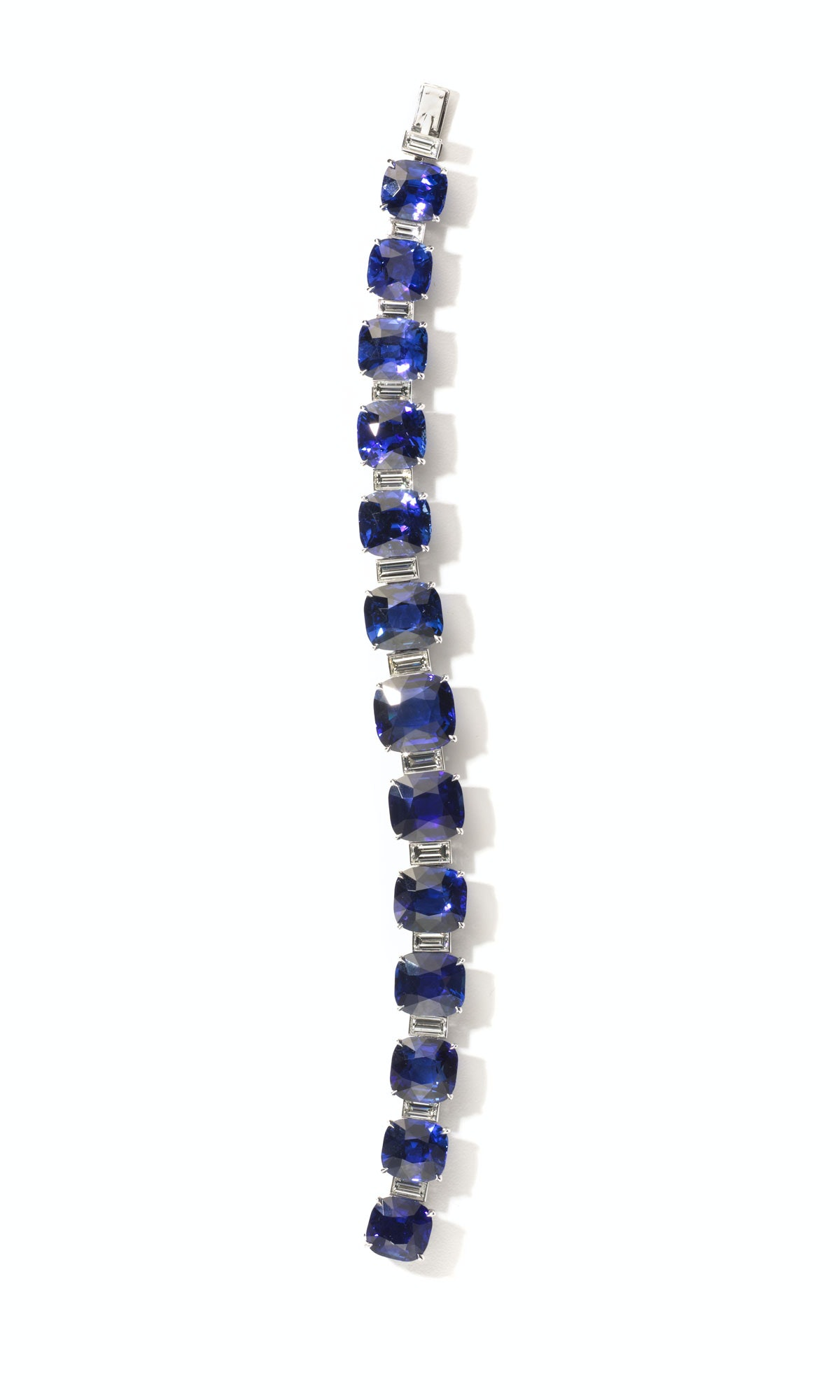 1213-W-TH-HarryWinston_Luxe-2Harry Winston platinum, sapphire, and diamond bracelet, price upon requ...
