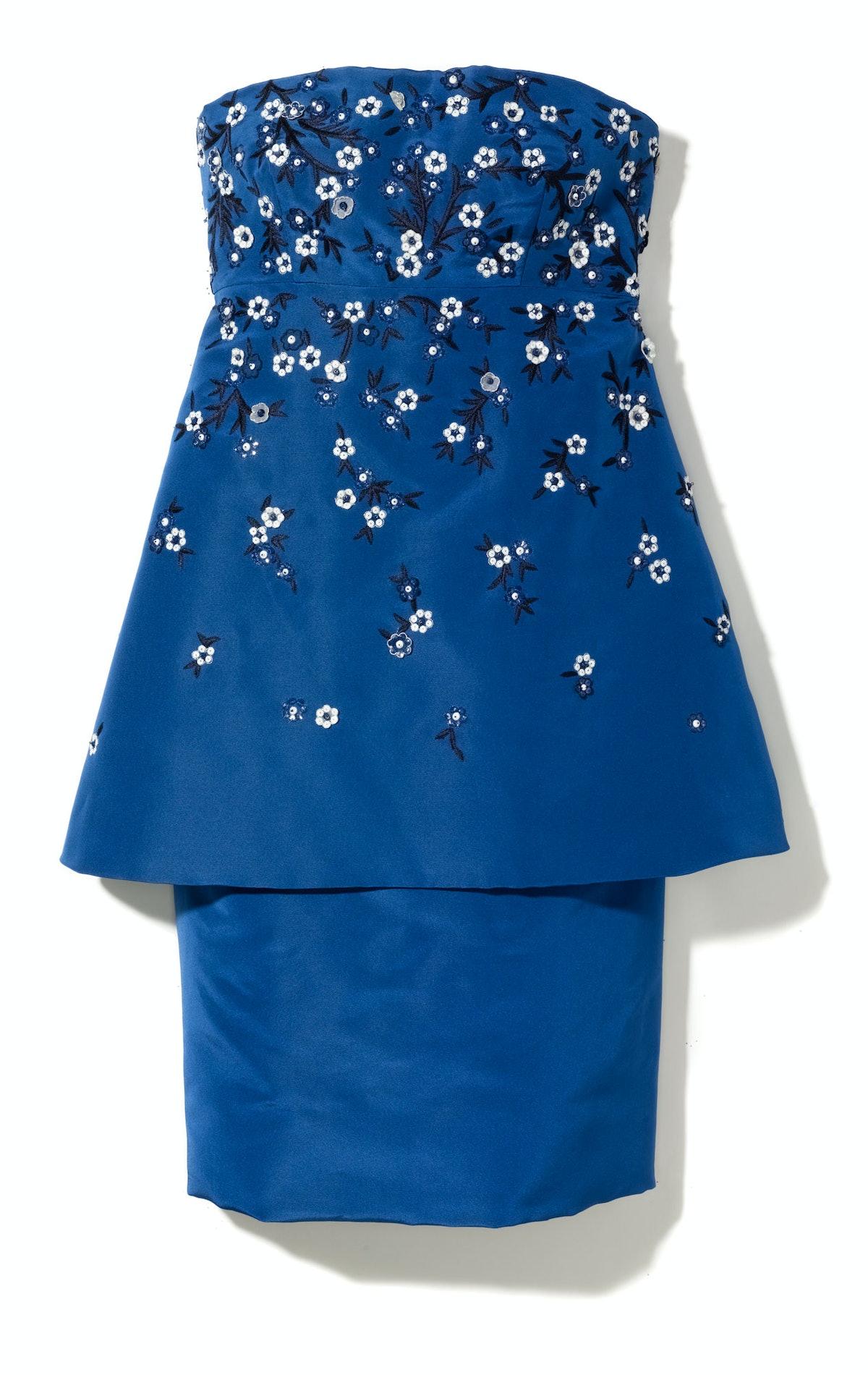 Oscar de la Renta top, $2,990, and skirt, $890, Nordstrom.