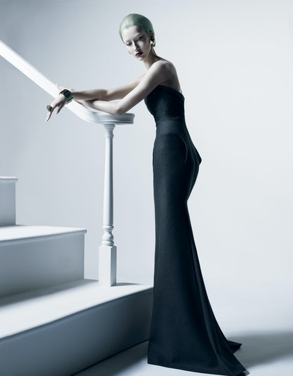 """Catching the light in """"Forty Something,"""" shot by Michael Thompson and styled by Karl Templer, August..."""