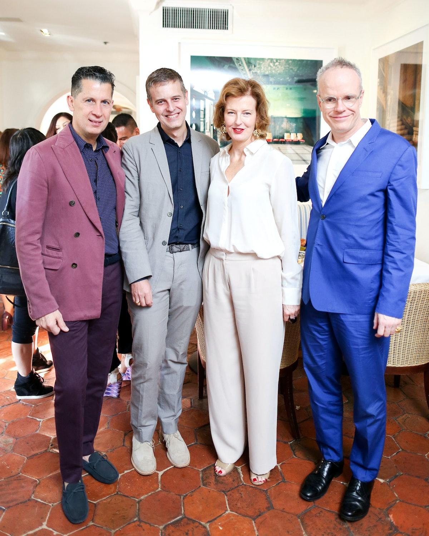 Stefano Tonchi, Armand Limnander, Julia Peyton-Jones, and Hans Ulrich Obrist. Photo by BFAnyc.com.