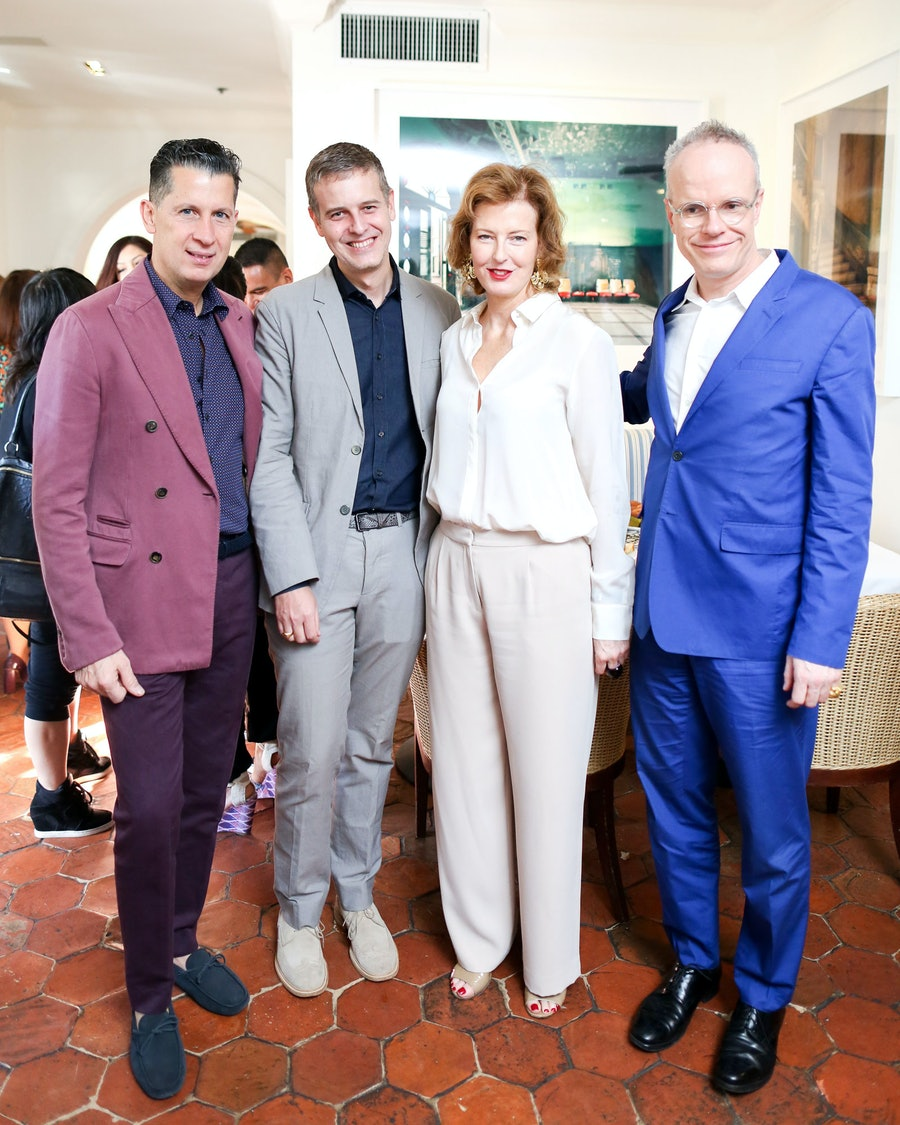 Stefano Tonchi, Armand Limnander, Julia Peyton-Jones, and Hans Ulrich Obrist. Photo by BFAnyc.com.