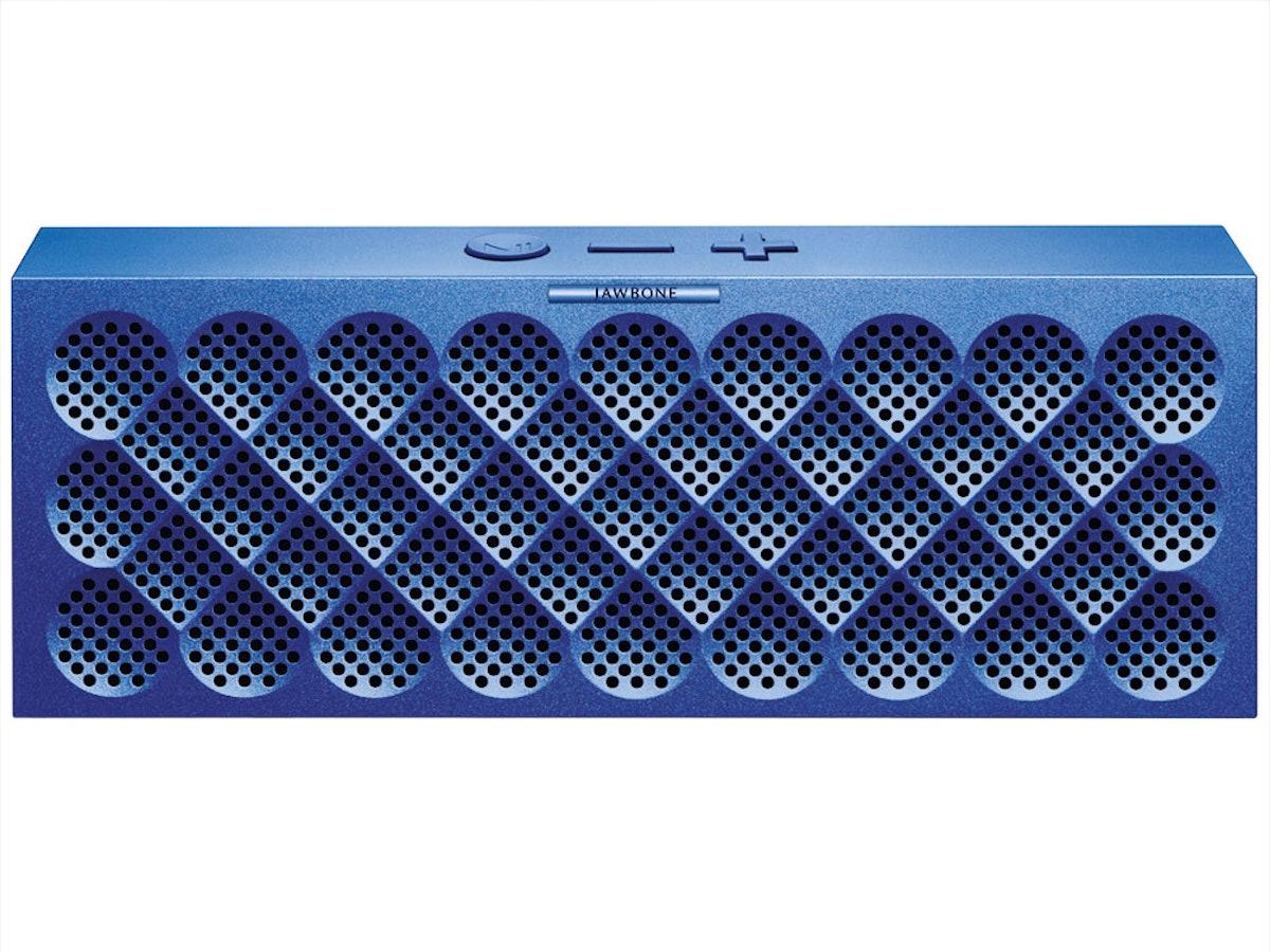 Jawbone mini jam-box speaker, $180, jawbone.com.