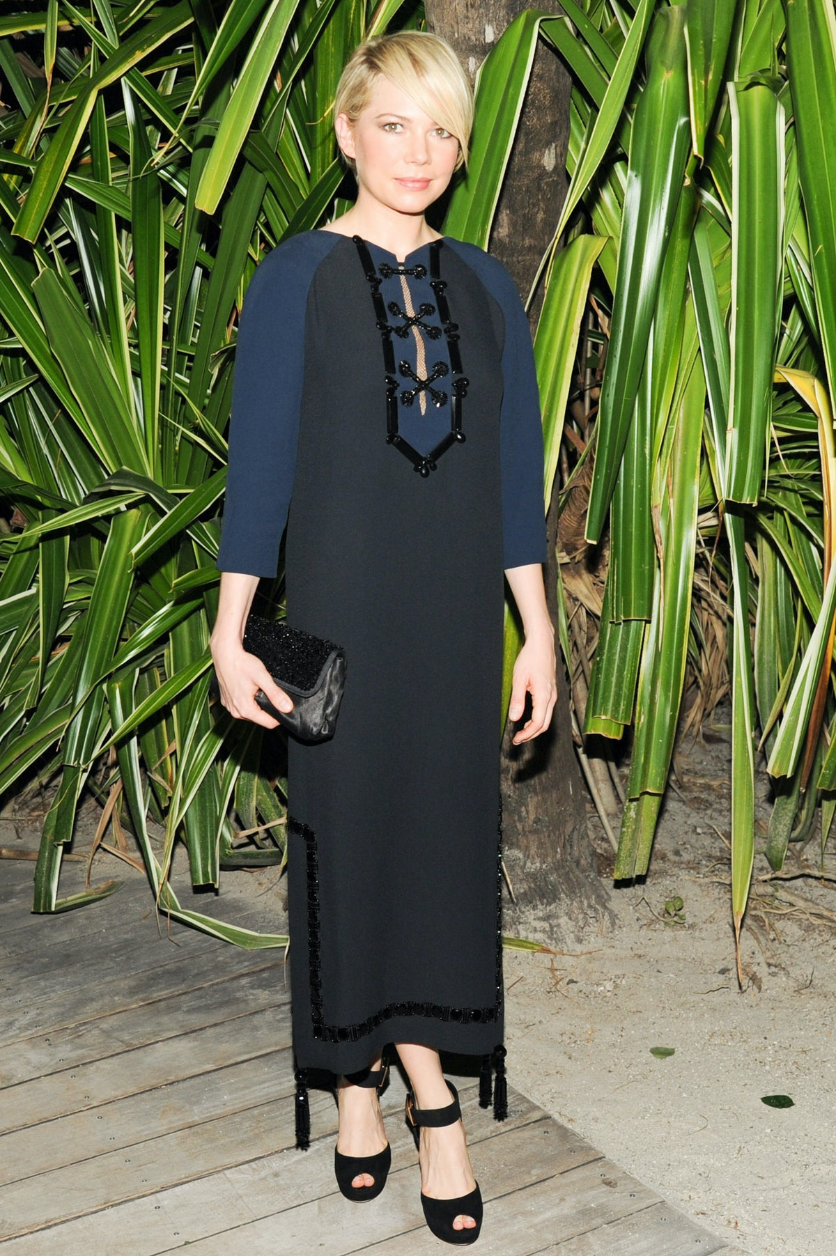 Michelle Williams in Louis Vuitton. Photo by BFAnyc.com.