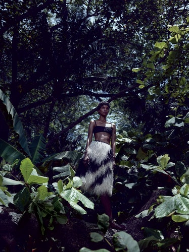 """Caught in the canopy in """"Survival of the Chicest"""" from June/July 2013, shot by Mikael Jansson and st..."""