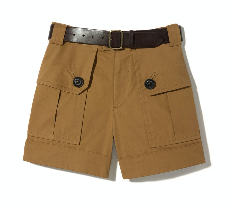 Dsquared2 shorts, $695, Saks Fifth Avenue, 877.551.SAKS, and belt, $275, dsquared2.com.