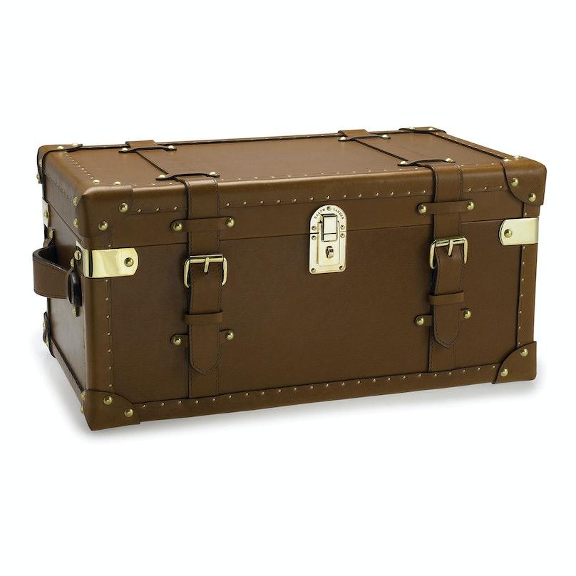 Ralph Lauren Home trunk, $1,595, [ralphlaurenhome.com](http://rstyle.me/n/dnbcw3w3n).