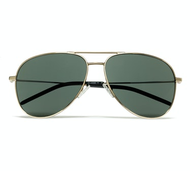 Saint Laurent by Hedi Slimane sunglasses, $375, solsticesunglasses.com.
