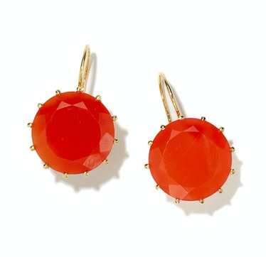 Andrea Fohrman gold and carnelian earrings, $1,550, marissacollections.com.