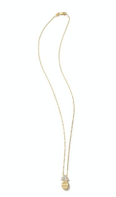 Alex Woo gold and diamond necklace, $998, alexwoo.com.