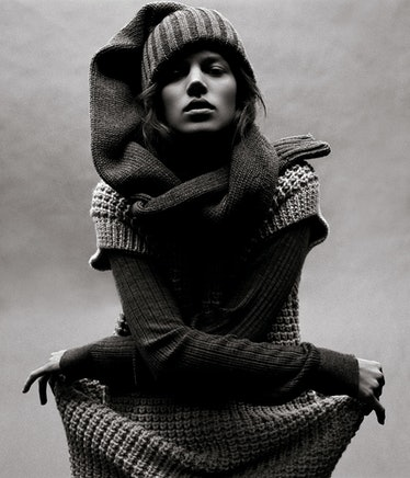 """All wrapped up in """"Relax,"""" shot by Michael Thompson and styled by Karl Templer, July 2006."""