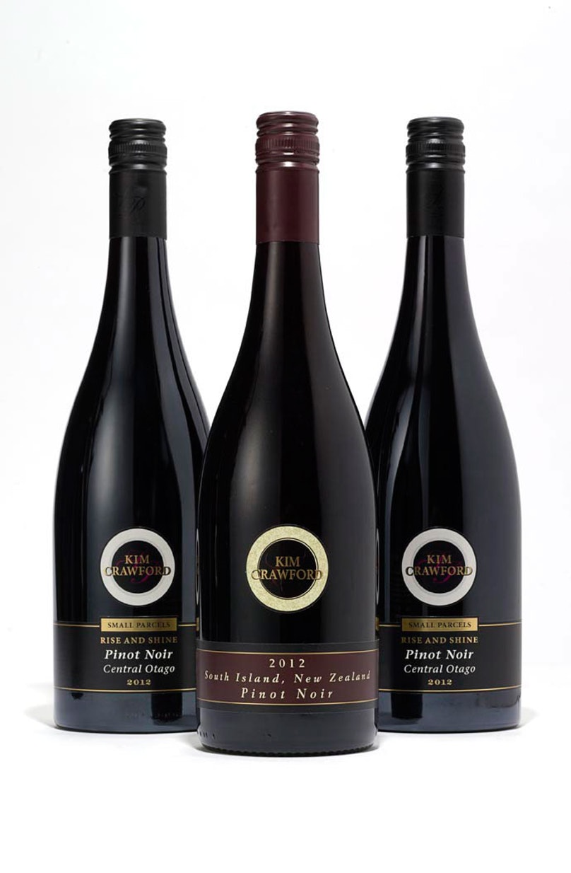 Kim Crawford Wines Small Parcels Pinot Noir 2012, $33 each; Pinot Noir, South Island, New Zealand 2012, $20, experiencekimcrawford.com.