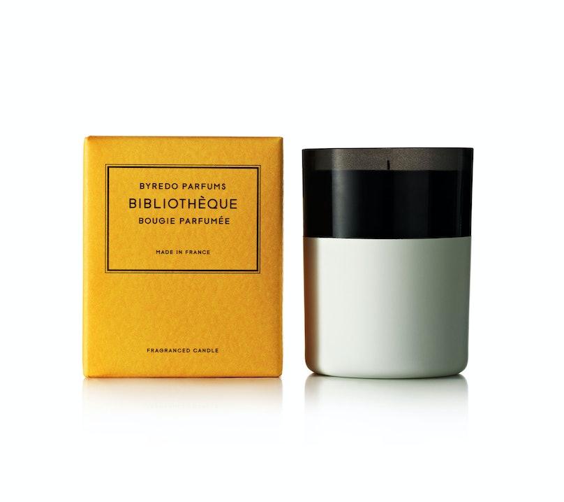 Byredo Bibiotheque Fragranced Candle, $95, [byredo.com](http://byredo.com).