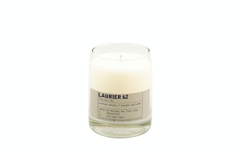 Le Labo Laurier 62 Candle, $70, [lelabofragrances.com](http://www.lelabofragrances.com).