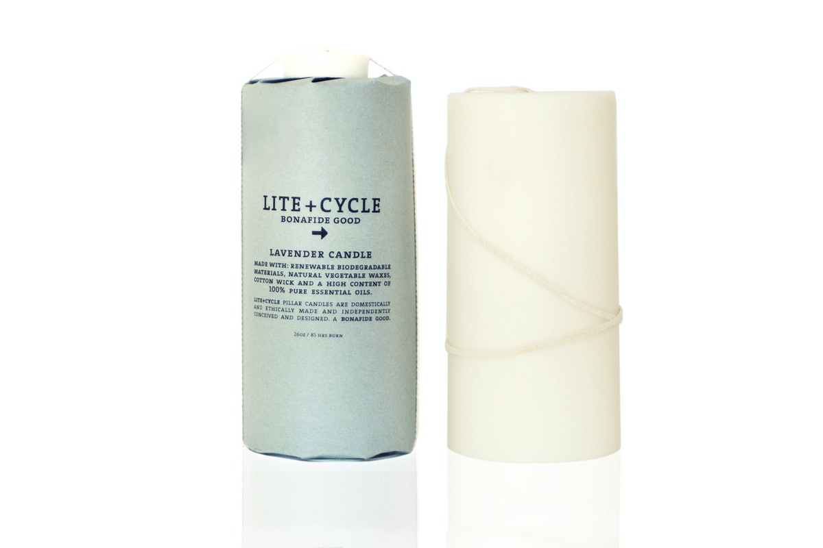 Lite + Cycle Lavender Candle, $36/68, [liteandcycle.com](http://www.liteandcycle.com).