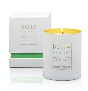 Roja Parfums Vetiver Candle, $100, [osswaldnyc.com](http://osswaldnyc.com).