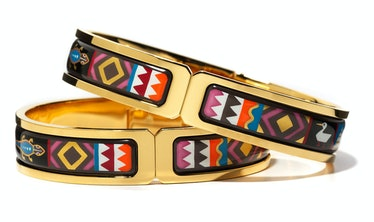 FreyWille gold-dipped brass and enamel bangles, $1,280 each, FreyWille, New York, 646.682.9030.