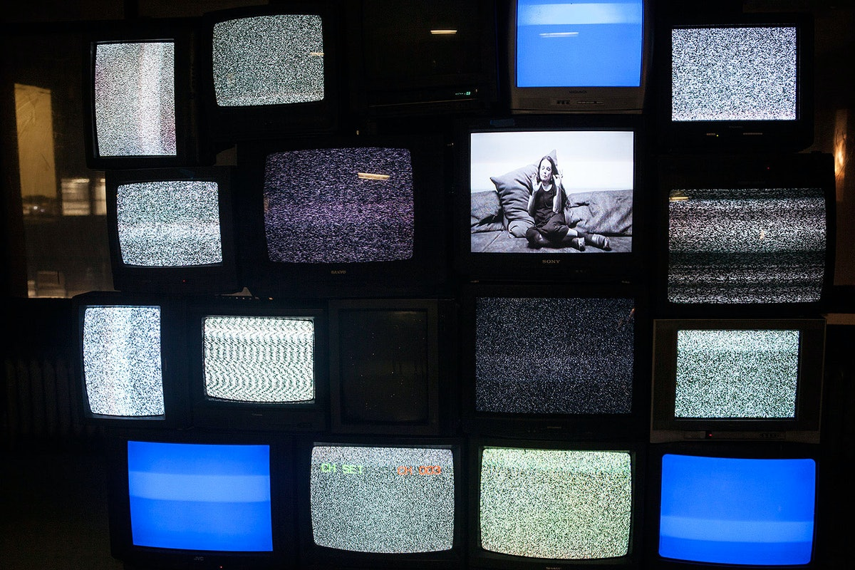 One of two multimedia viewing rooms.    Courtesy of Byronesque.com.