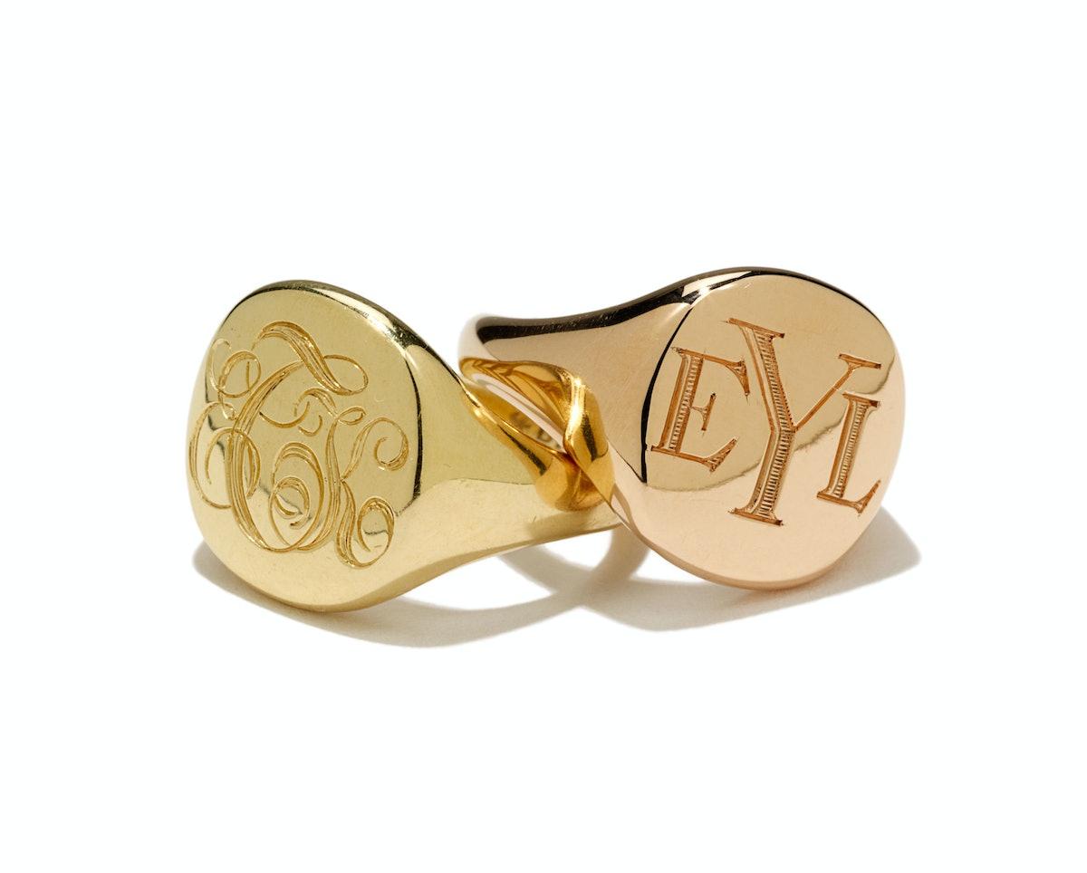 David Yurman gold rings, $1,850 each, [davidyurman.com](http://www.davidyurman.com/).