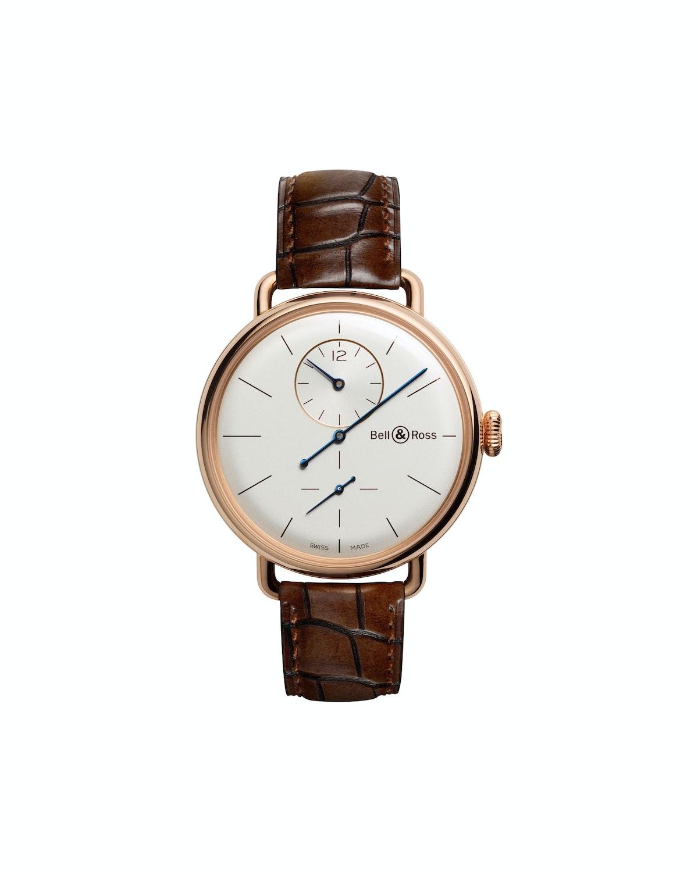 Bell & Ross gold watch, $22,000, bellross.com.
