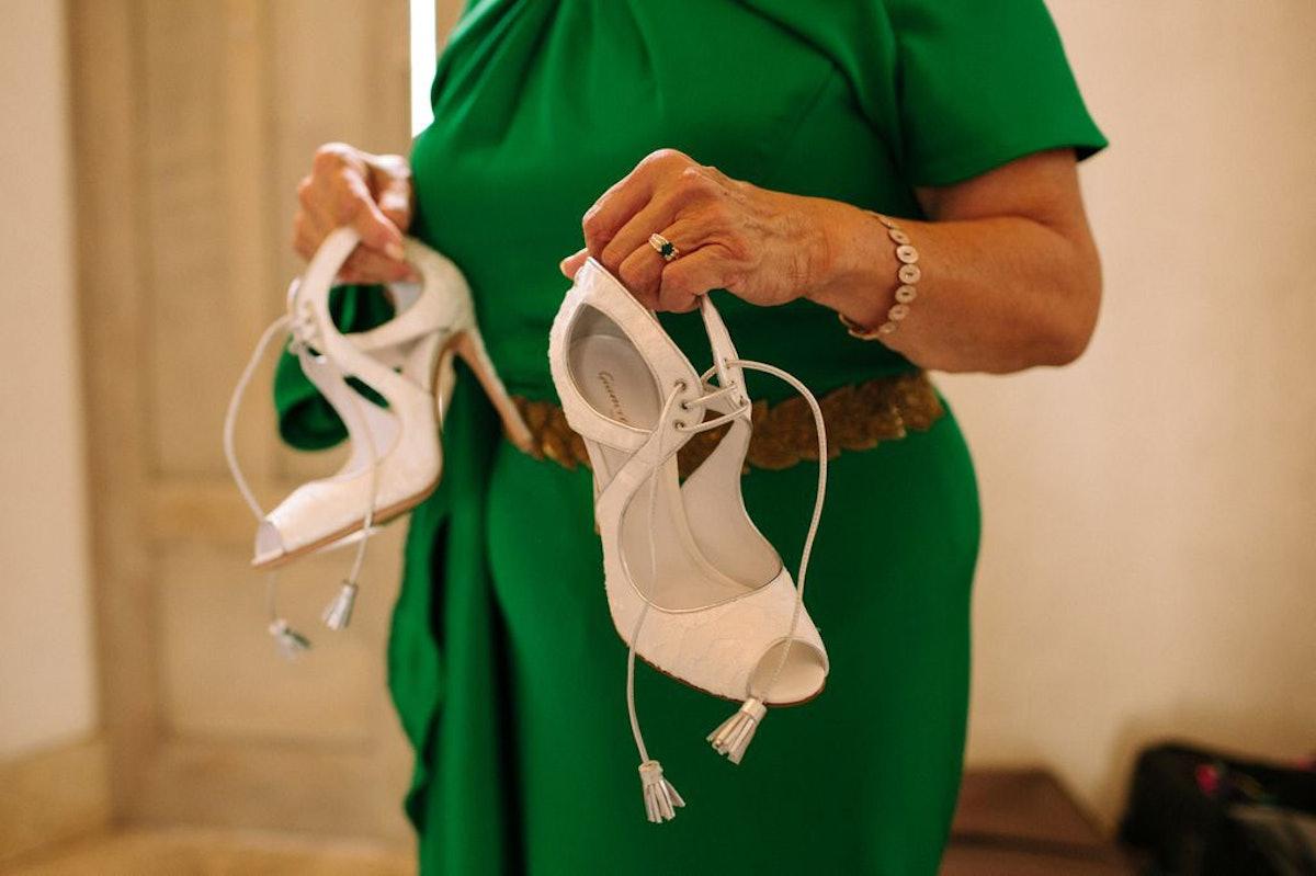 Shoe designer Gianvito Rossi is a friend, and made me custom shoes; Carolina Herrera kindly gave me ...