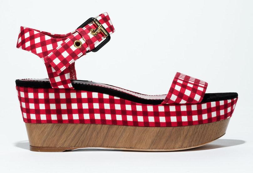 Louis Vuitton sandals, $943, select Louis Vuitton stores, 866.VUITTON.