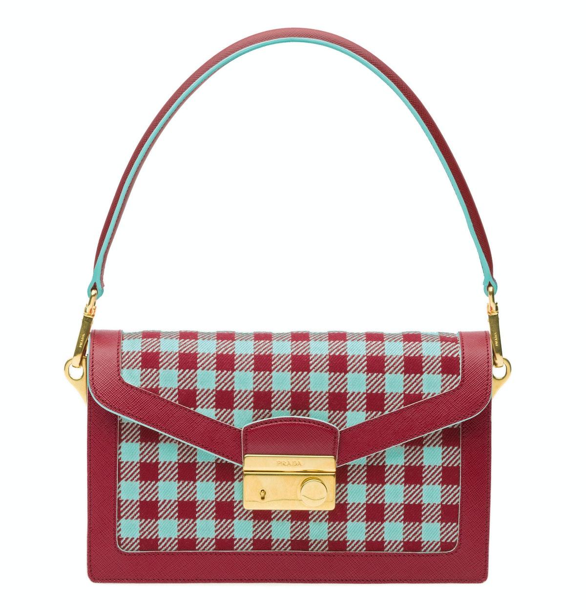 Prada bag, $1,650, [prada.com](http://store.prada.com/en/US/mini-bags/mini-bags).