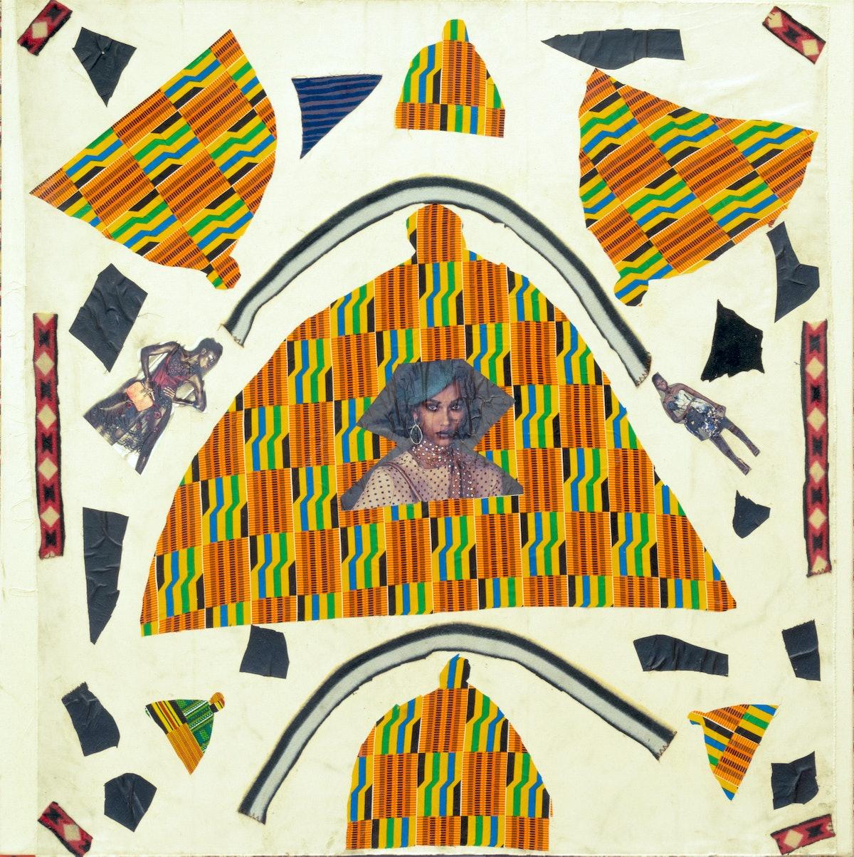 "Katherine Bernhardt, ""Seven Tagines,"" 2013. Courtesy of The Hole."