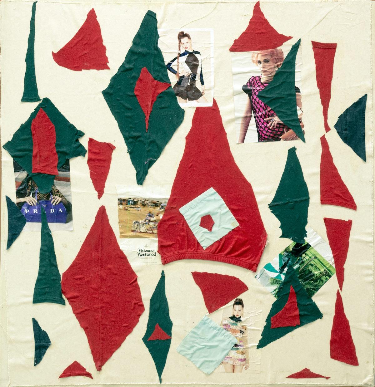 "Katherine Bernhardt, ""Christmas in Africa,"" 2013. Courtesy of The Hole."