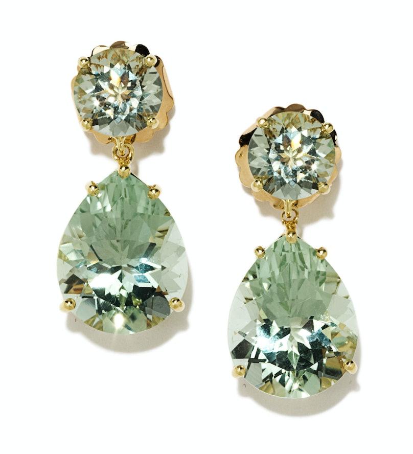 Mish gold and amethyst earrings, $5,400, [mishnewyork.com](http://mishnewyork.com/).