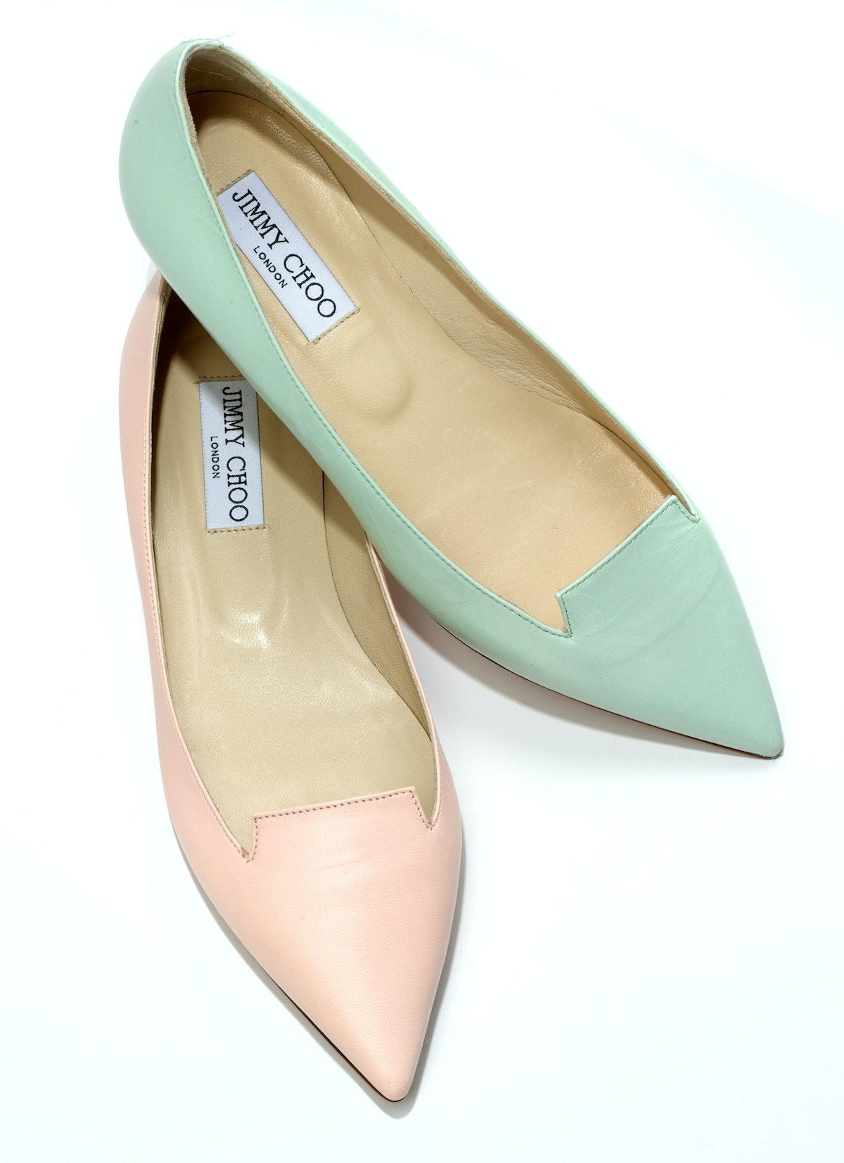Jimmy Choo flats, $550 per pair, [nordstrom.com](http://rstyle.me/n/dwpty3w3n).