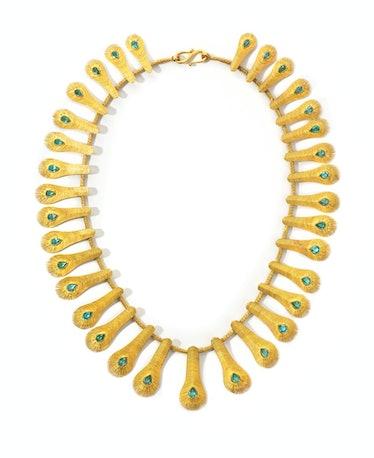 Marie-Hélène de Taillac gold and apatite necklace, $44,845, Marie-Hélène de Taillac, New York, 212.2...