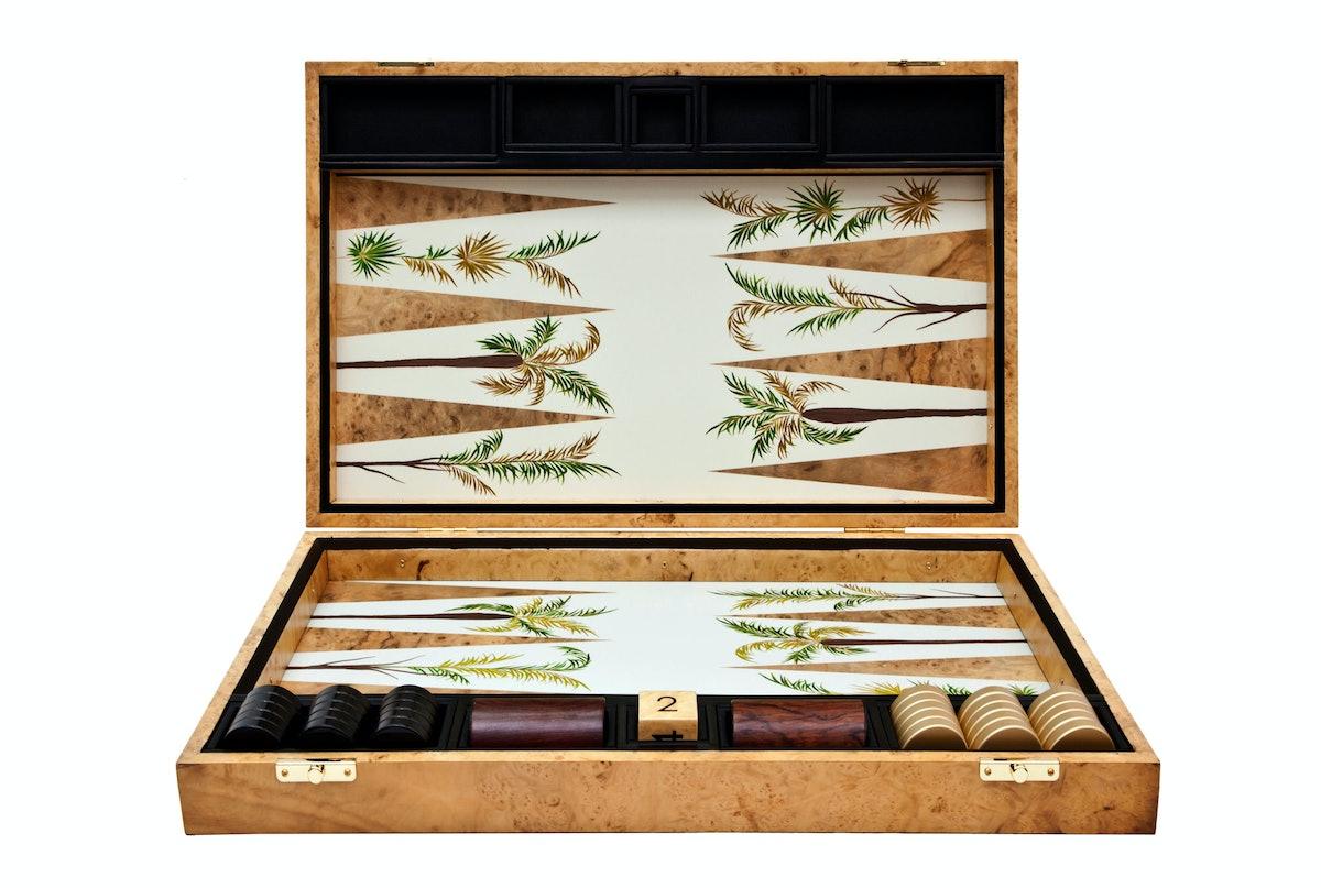 Alexandra Llewellyn Design backgammon board, $3,272, [bespokeglobal.com](http://www.bespokeglobal.com/designers/alexandra-llewellyn).