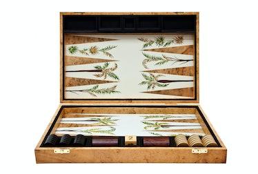 Alexandra Llewellyn Design backgammon board, $3,272, [bespokeglobal.com](http://www.bespokeglobal.co...