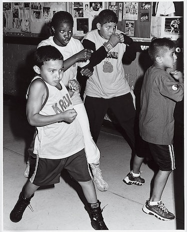 """Throwing punches in """"Welcome to the Motor City,"""" shot by Bruce Weber and styled by Camilla Nickerson..."""