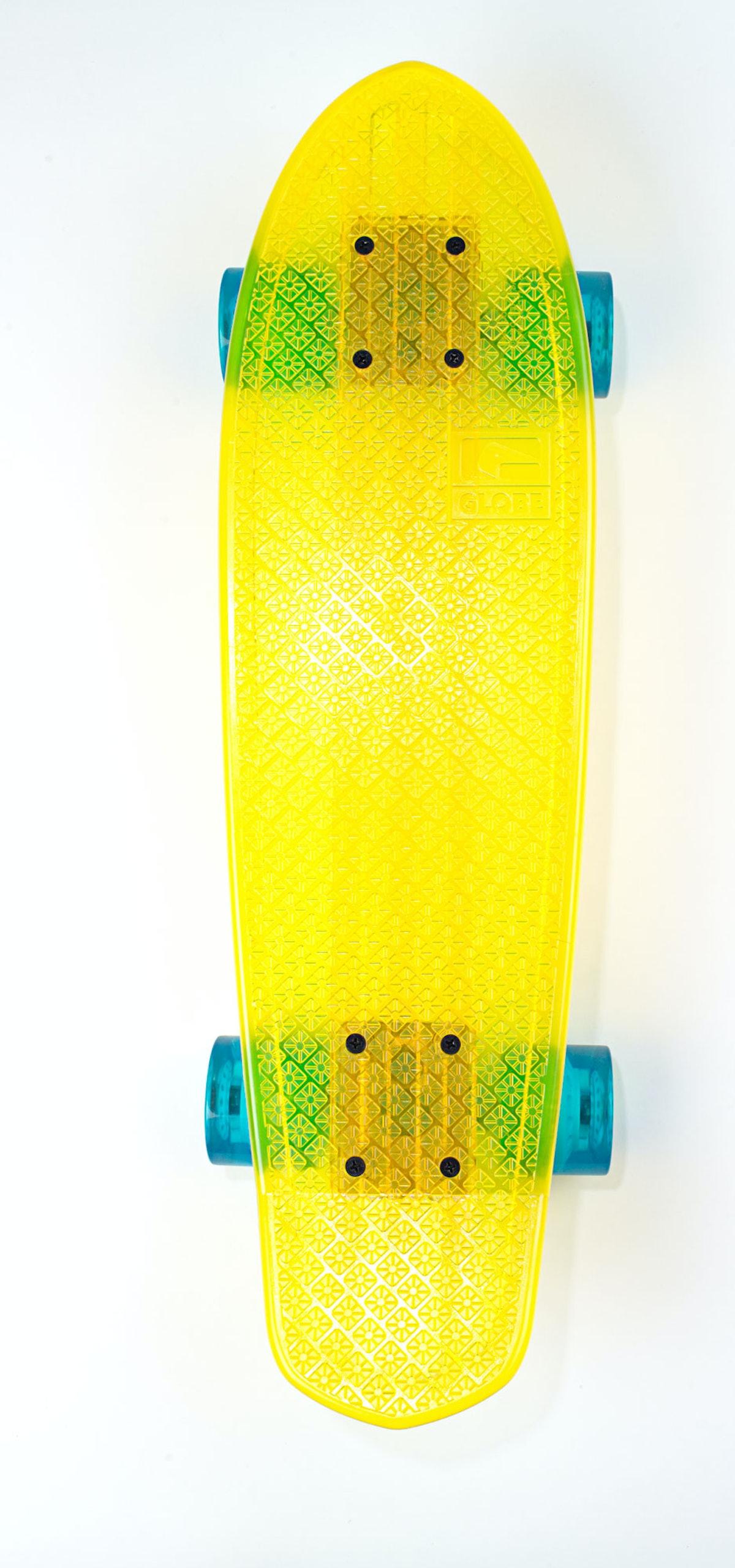 Globe skateboard, $132, [alexandalexa.com](http://alexandalexa.com/).