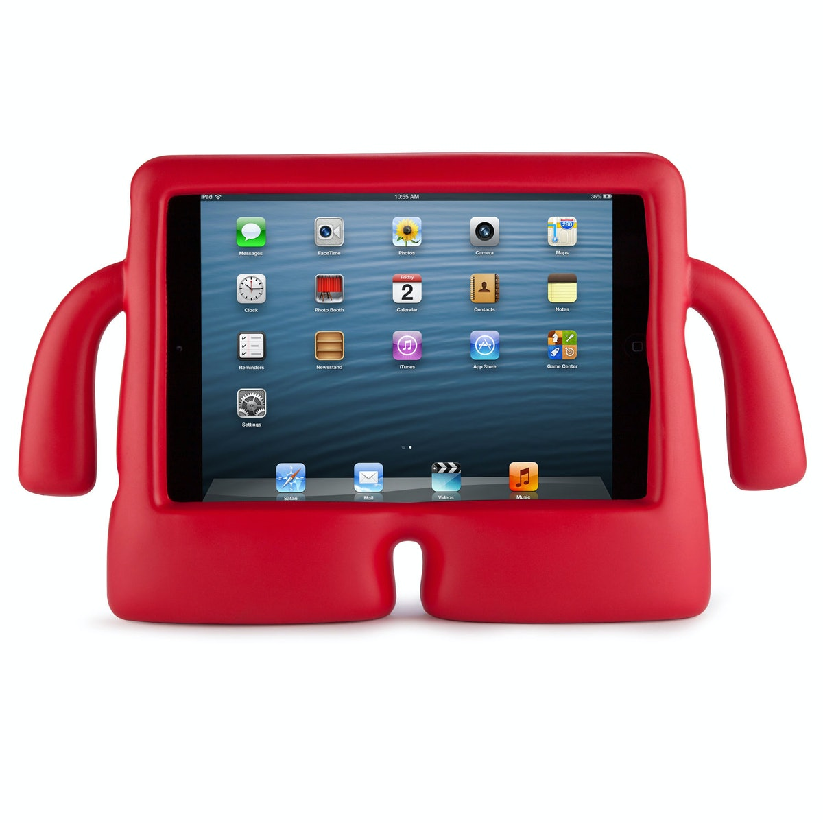 Speck iGuy iPad mini case, $30, [bestbuy.com](http://www.bestbuy.com/site/speck-iguy-case-for-apple-ipad-ipad-2-ipad-3rd-generation-and-ipad-with-retina-red/8526165.p?id=1219050994616&skuId=8526165&ref=06&loc=01&ci_src=14110944&ci_sku=8526165&extensionType={adtype}:{network}&s_kwcid=PTC!pla!{keyword}!{matchtype}!{adwords_producttargetid}!{network}!{ifmobile:M}!{creative}&kpid=8526165&k_clickid=0f52ab71-9cea-c148-32d5-00005b1547a2); Apple iPad mini, starting at $329, [apple.com](www.apple.com).