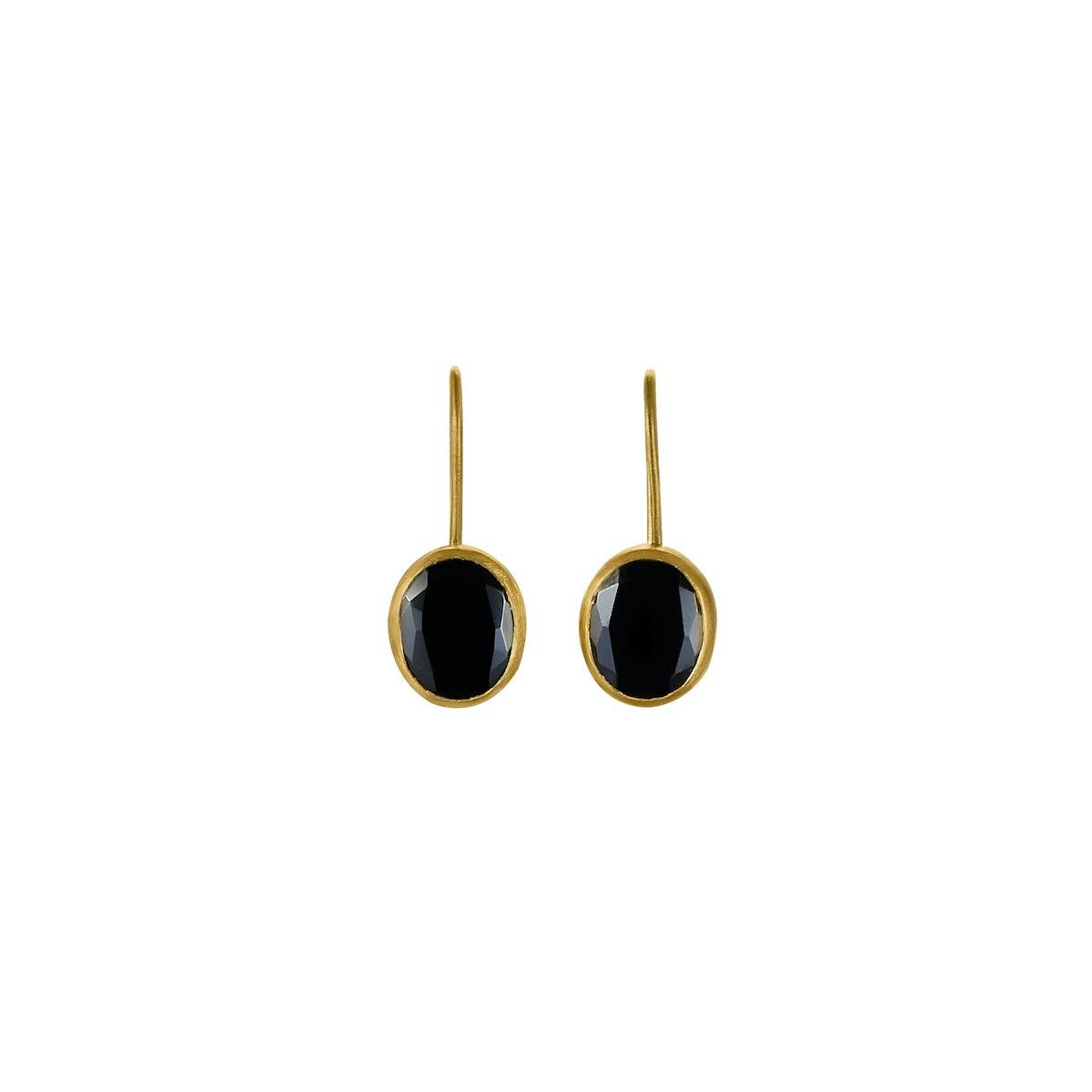 __For the classic girl:__ Eli Halili 24k gold and onyx earrings, $950, [elihalili.com](http://www.el...