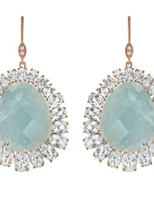__For the glamour girl:__ Meira T aquamarine and white topaz earrings, $1850, [meiratboutique.com](h...