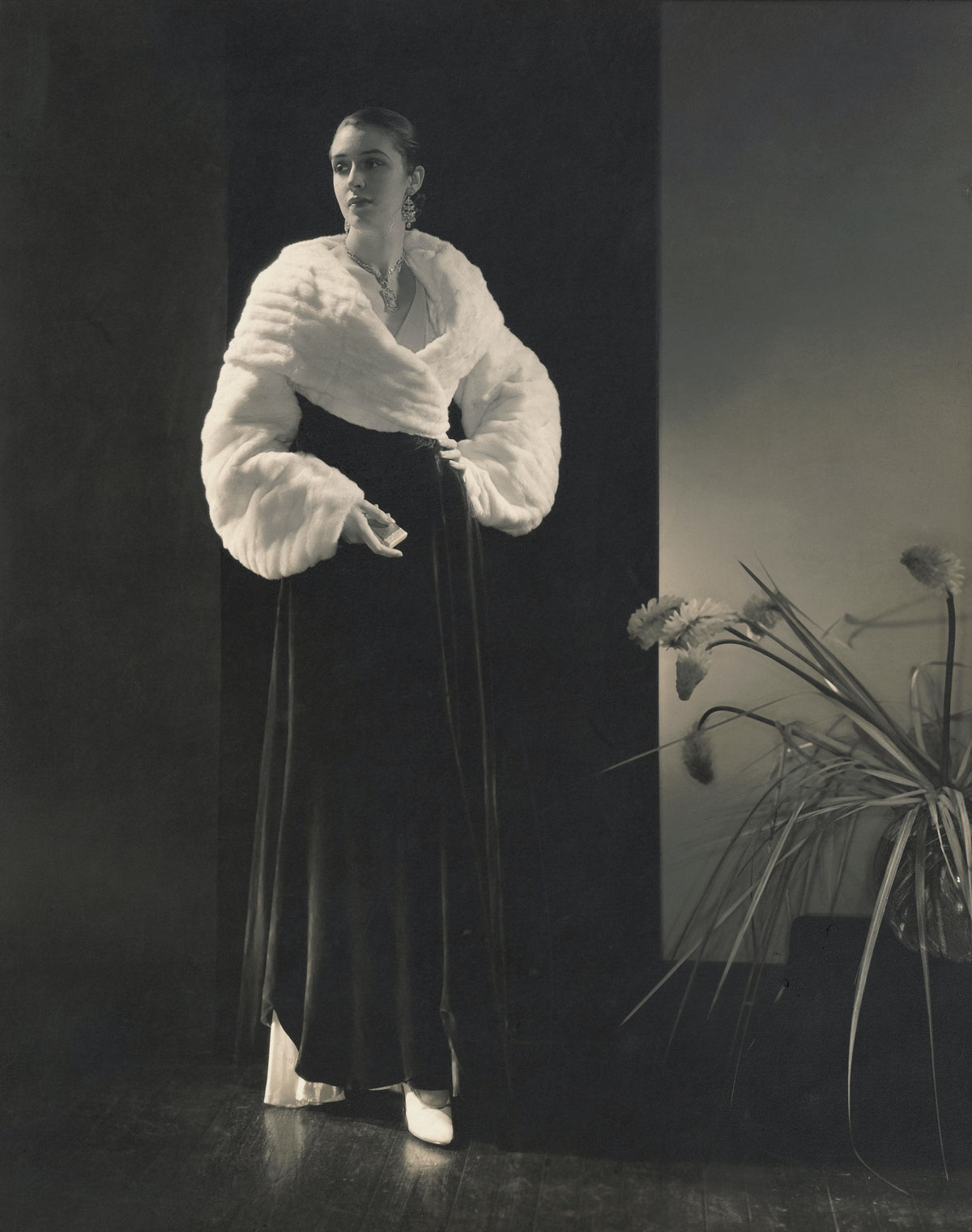 Edward Steichen, *Vogue Fashion (Marion Morehouse in Vionnet evening gown and wrap)*, 1930. Courtesy of Whitney Museum of American Art.