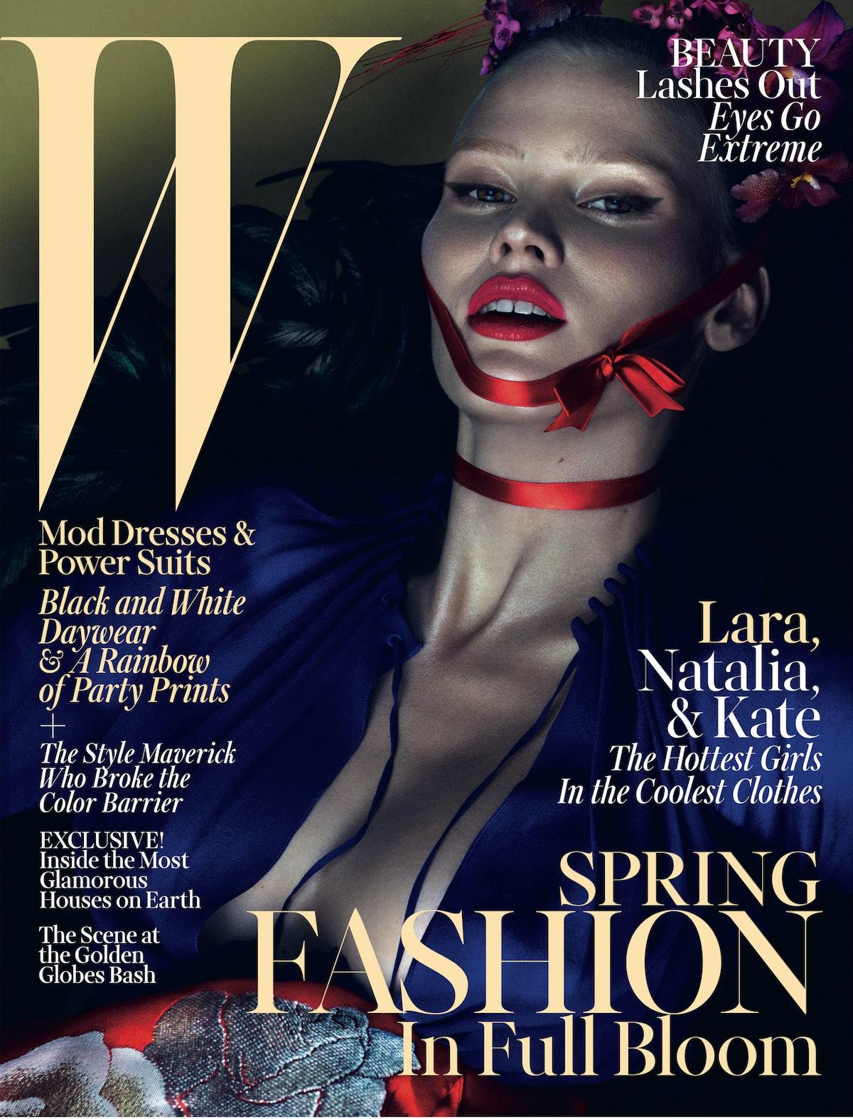 Lara Stone March 2013 W Magazine