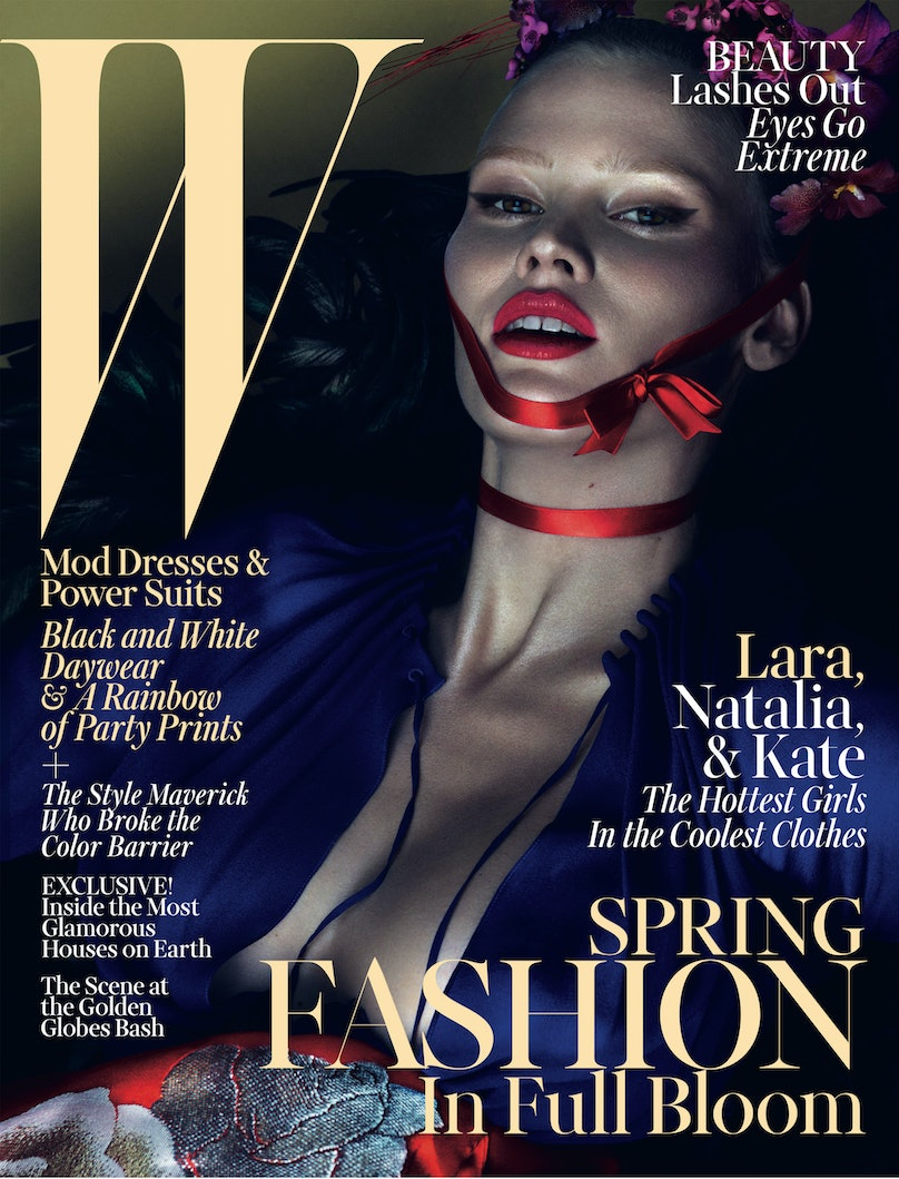 Lara Stone March 2013 W Magazine